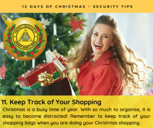 Keep Track of Your Shopping Bags - Christmas is a busy time of year. With so much to organise, it is easy to become distracted! Remember to keep track of your shopping bags when you are doing your Christmas shopping.