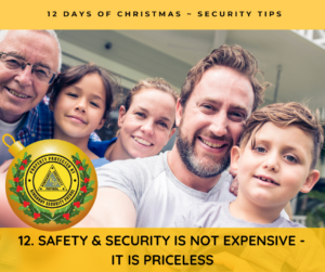 Safety & Security is not expensive, They are priceless!